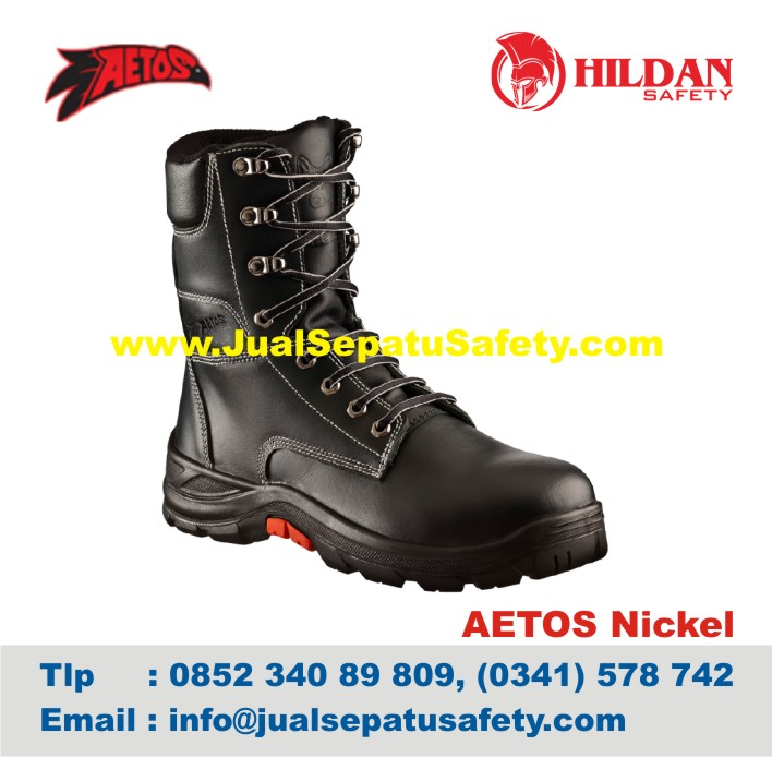 Sepatu Safety Shoes AETOS NICKEL 813019 Black