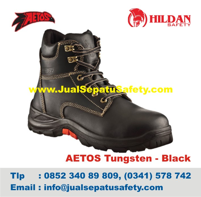 Sepatu Safety Shoes AETOS TUNGSTEN 813118 Black