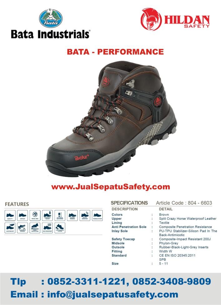 harga Sepatu Safety Shoes BATA PERFORMANCE terupdate 2016 jakarta