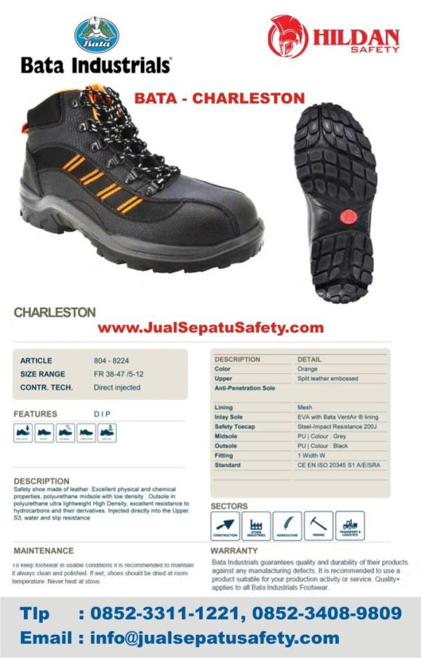 online shop Sepatu Safety Shoes BATA CHARLESTON bandung