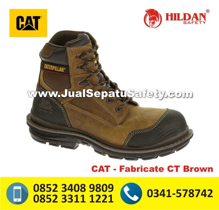 Jual Sepatu CATERPILLAR ASLI - CAT Fabricate CT Brown MAKASSAR