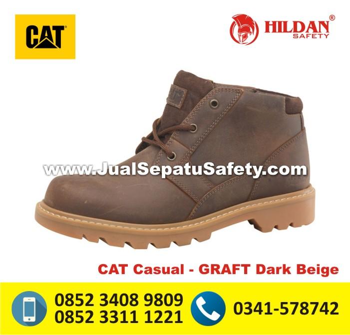 Jual CATERPILLAR Shoes SEMARANG - CAT Casual GRAFT Dark Beige