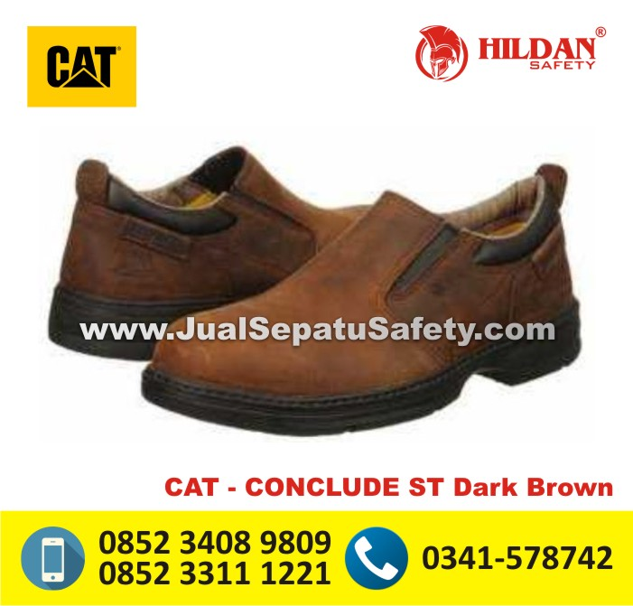 Sepatu Boot Caterpillar SURABAYA - CAT CONCLUDE ST Dark Brown
