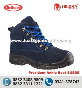 Dr.Osha President Ankle Boot SUEDE - Grosir Sepatu Safety Shoes SURABAYA SNI