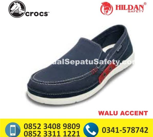 crocs walu accent navy