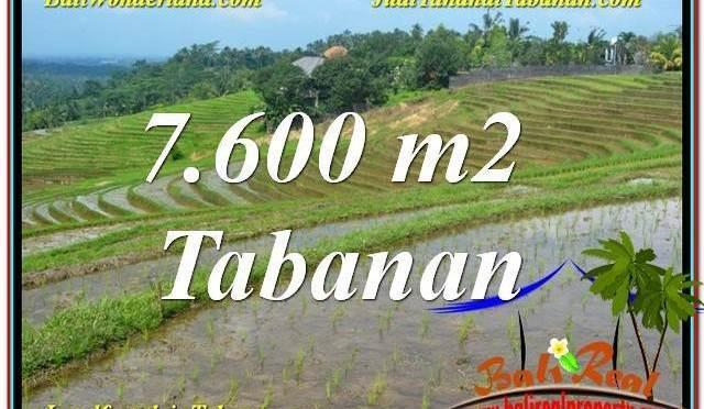 DIJUAL TANAH di TABANAN 7,600 m2 di Tabanan Selemadeg