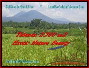 TANAH JUAL MURAH  TABANAN 27 Are Sawah, Gunung, Sungai dan Kota Denpasar