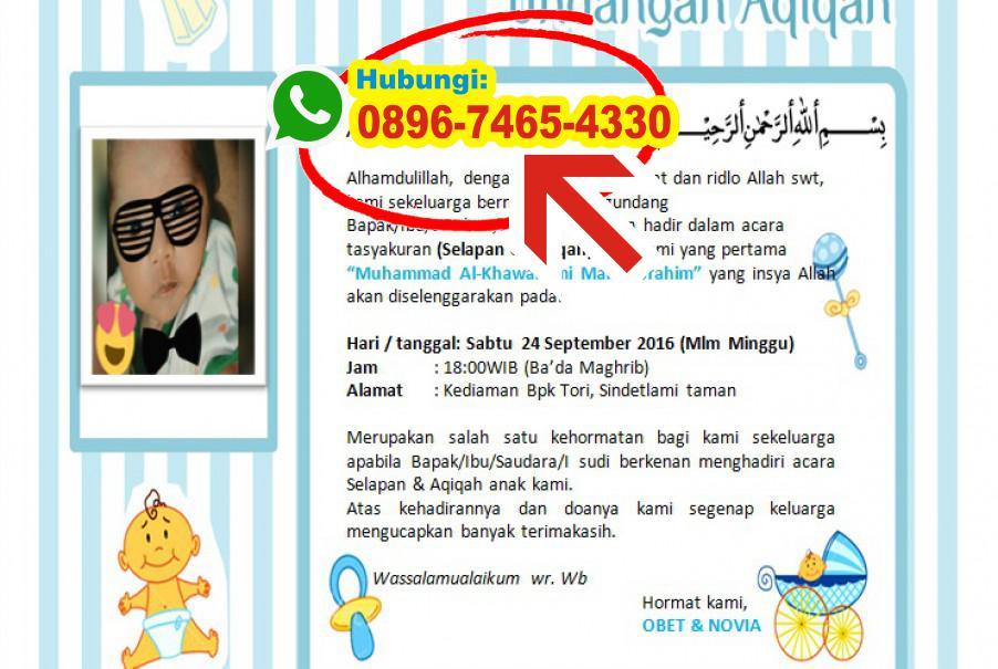 Download Contoh Undangan Aqiqah Cdr 0896 7465 4330 Wa Undangan