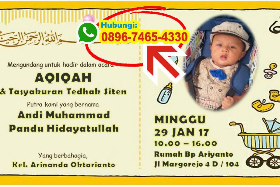 Contoh Undangan Aqiqah Format Corel 0896 7465 4330 Wa Undangan