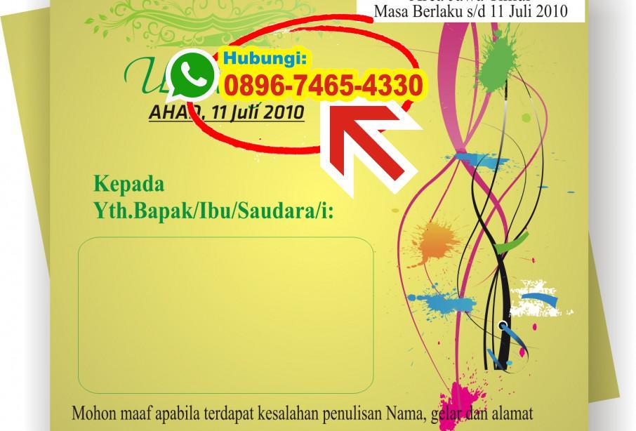 Desain Undangan Khitanan Photoshop 0896 7465 4330 Wa Undangan