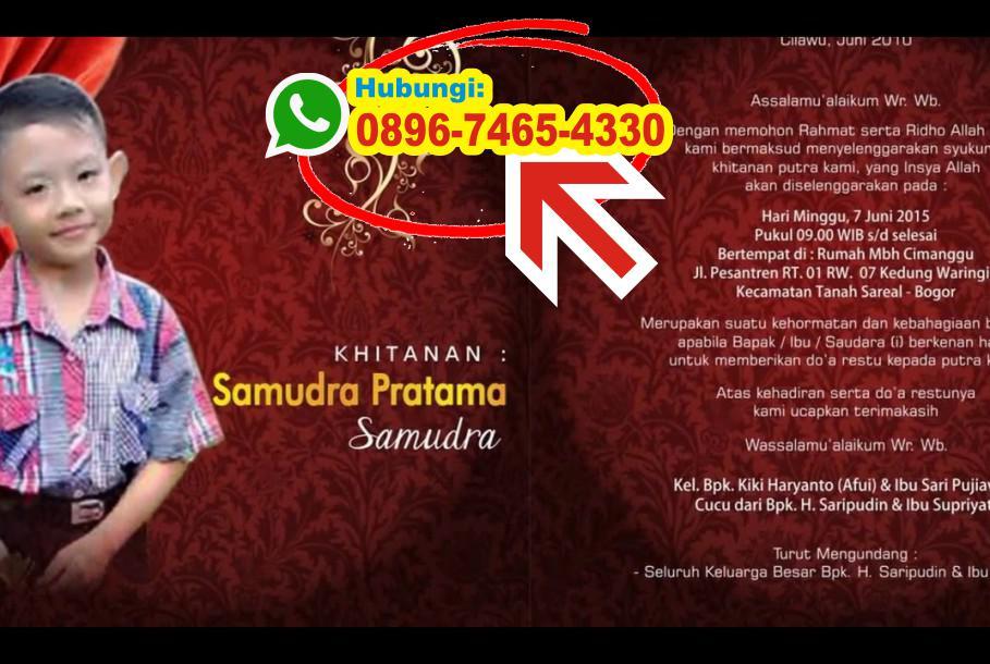 Surat Undangan Khitan Bahasa Jawa 0896 7465 4330 Wa Undangan