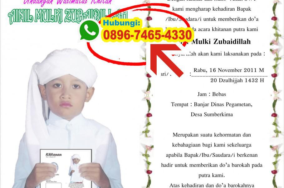 Undangan Khitan Jawa 0896 7465 4330 Wa Undangan Khitanan