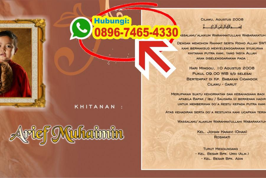 Contoh Undangan Khitan Bahasa Sunda 0896 7465 4330 Wa Undangan