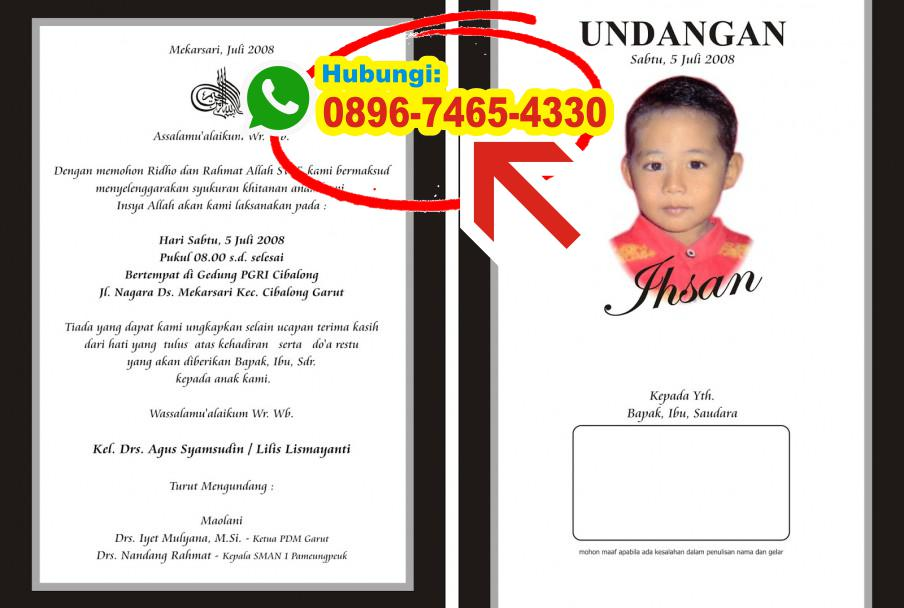Undangan Khitan Simple 0896 7465 4330 Wa Undangan Khitanan