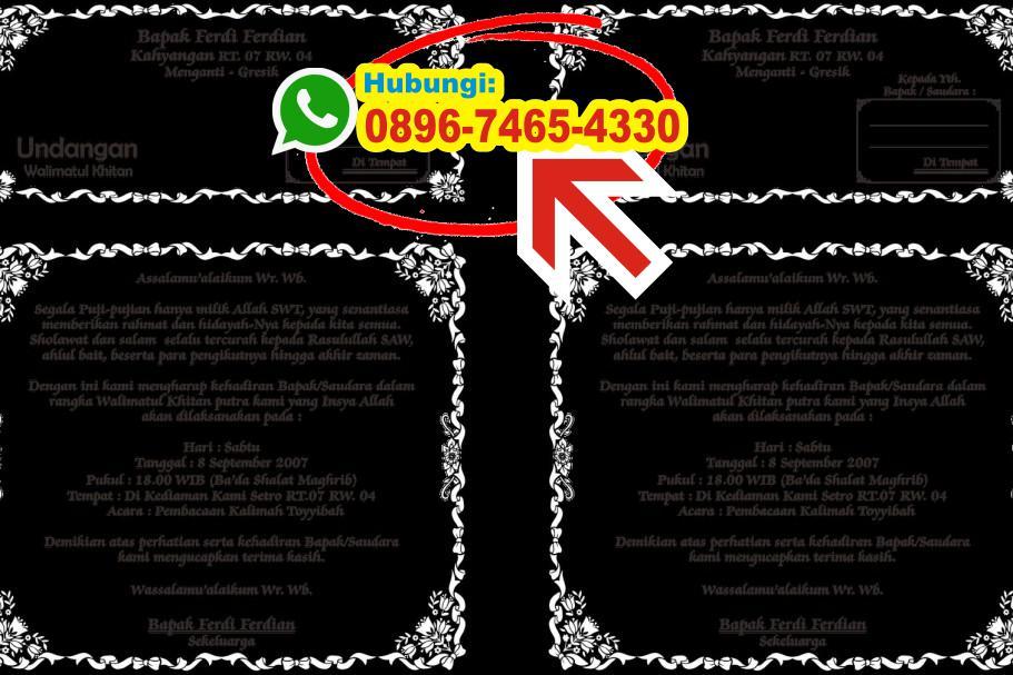 Free Download Desain Undangan Khitanan Cdr 0896 7465 4330 Wa