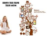 Brown Tree Frame jm7202 Wallsticker ecer, grosir untuk dekor kamar, ruang tamu, kamar bayi. 085776500991-bu Eva