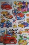 CLA056 CARS 3D Wallsticker kamar anak, grosir untuk dekor kamar, ruang tamu, kamar bayi. 085776500991-bu Eva