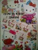 FRAME HK MAWAR 3D 60x90 Wallsticker ecer, grosir untuk dekor kamar, ruang tamu, kamar bayi. 085776500991-bu Eva