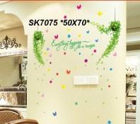 SK7075 C Wallsticker ecer, grosir untuk dekor kamar, ruang tamu, kamar bayi. 085776500991-bu Eva
