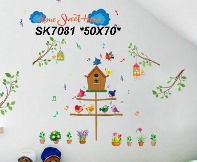 sk7081 Wallsticker ecer, grosir untuk dekor kamar, ruang tamu, kamar bayi. 085776500991-bu Eva
