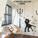 Glow Fall in Love Wallsticker anak, grosir, bagus, bunga, dapur, ruang tamu. 085776500991-bu Eva