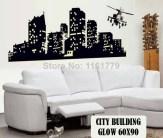 Hely City Glow abq9607 Wallsticker ecer, grosir untuk kamar, ruang tamu, bayi