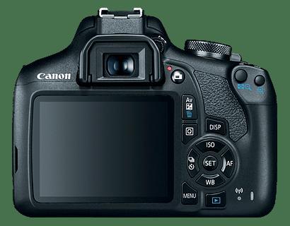 Cámara Canon EOS T7 vista trasera