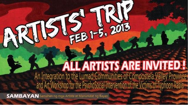 Artists Trip Lumad Community invitcard