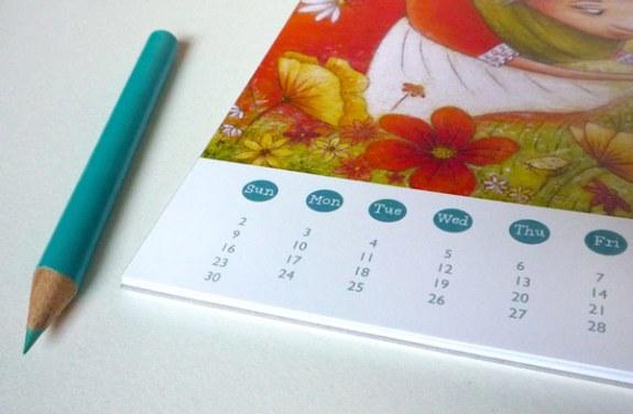 Storybook Brushes 2013 Calendar Giveaway - Detail