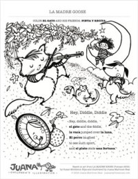 La Madre Goose - Coloring Page