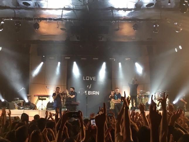Love of Lesbian tras el concierto en La Riviera (Madrid) el 21 de Abril de 2016
