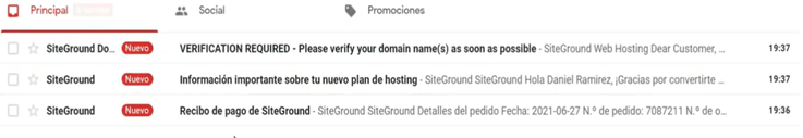 emails siteground