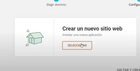 crear sitio con siteground
