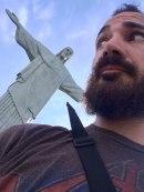 Juan Carrizo - Rio - la obligada selfie con Cristo