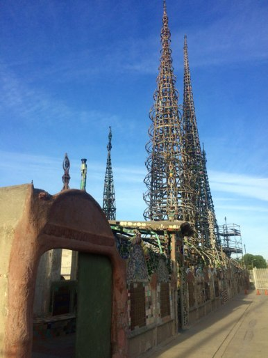 Watts Towers - Altura de las torres