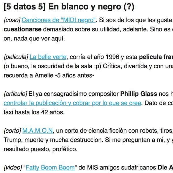 Juan Carrizo | Newsletter en texto plano