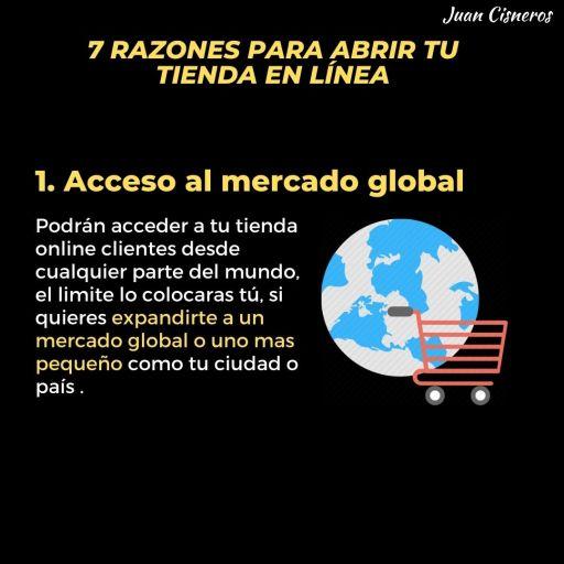 tu tienda en línea te da acceso al mercado global