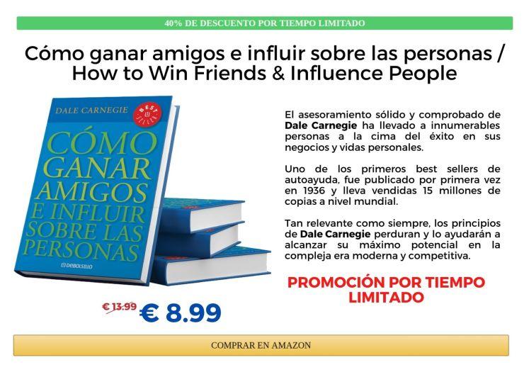 Libro Amazon Como ganar amigos e influir sobre las personas dale carnegie