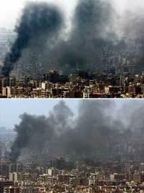 Más humo significa más bombas.