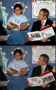 Bush leyendo