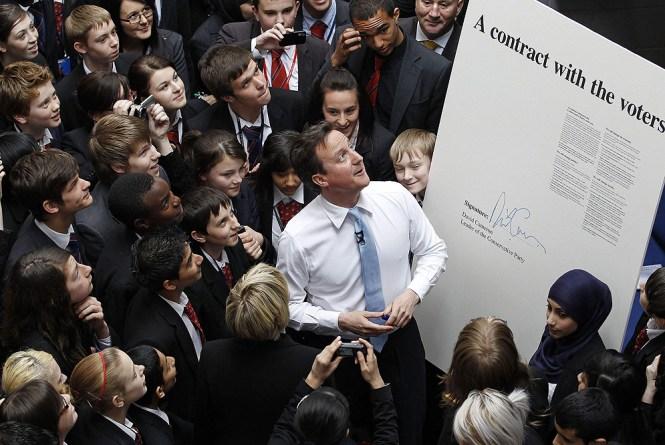 David Cameron y su contrato con la sociedad