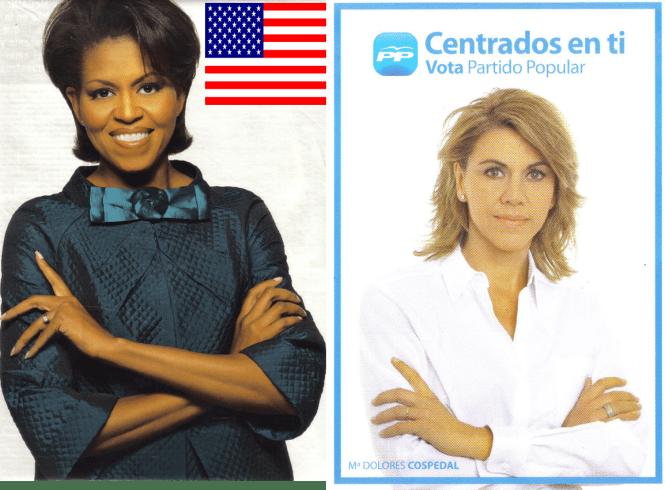 Michel Obama y María Dolores de Cospedal