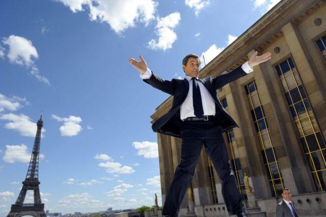 El showman Sarkozy. Foto Philippe Wojazer