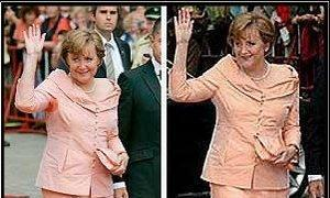 Angela Merkel no suda.