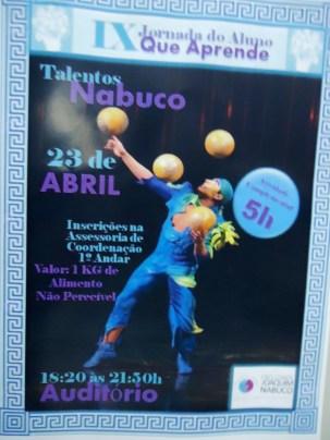 Evento Talentos Nabuco 23 de Abril na FJNR (Recife,2015).
