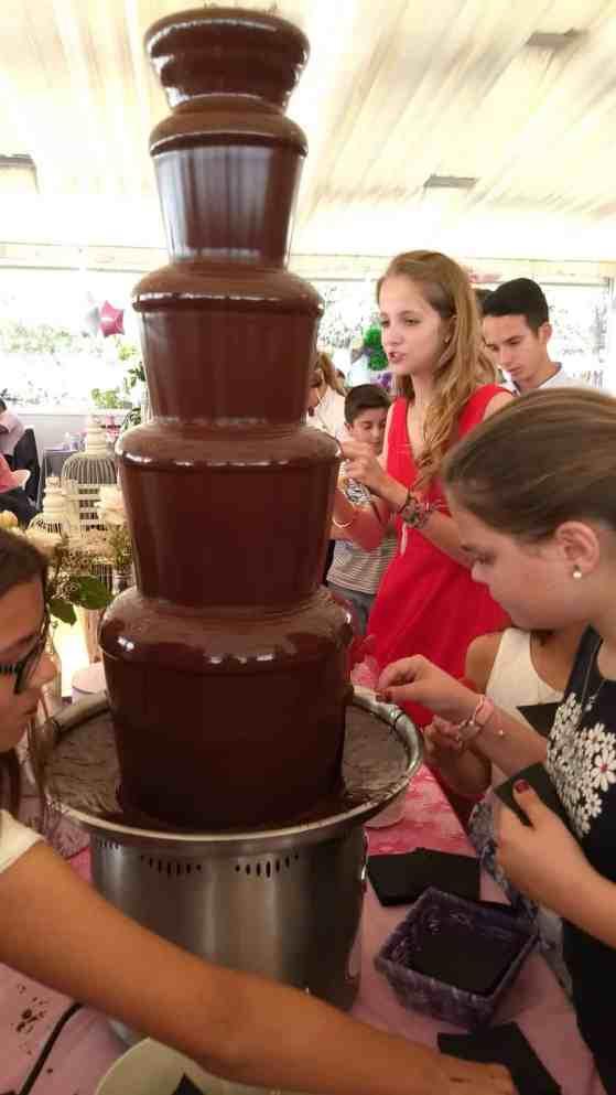 Fuentes de chocolate Aspe