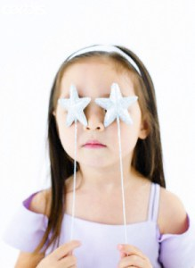Girl with Stars Over Eyes