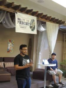 Dino Alcoseba pitching the idea behind sportscout.ph