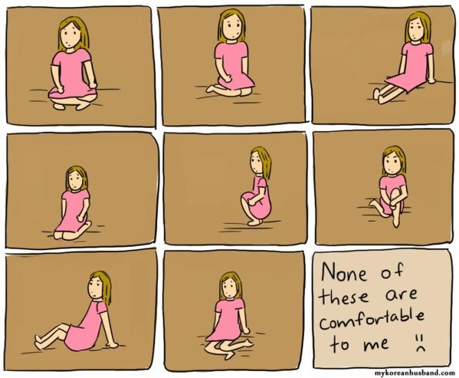 sentarse en el suelo