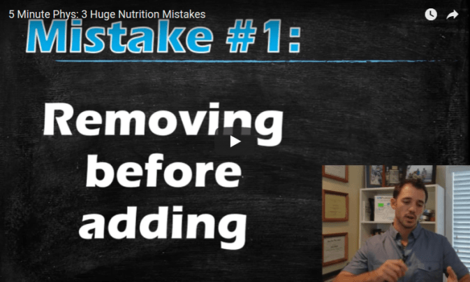 Vídeo: 3 errores en nutrición